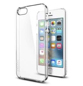 Spigen kryt Thin Fit pre iPhone SE/5s/5 - Crystal Clear