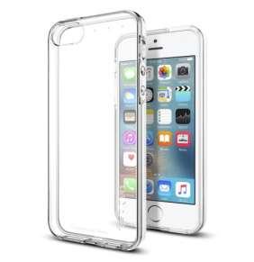 Spigen kryt Liquid Armor pre iPhone SE/5s/5 - Crystal Clear