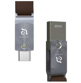 Adam Elements Flash Drive 64GB Roma 64 USB-C/USB 3 - Gray