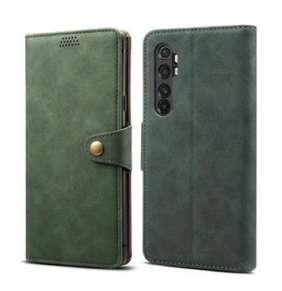 Lenuo Leather flipové pouzdro pro Xiaomi Mi Note 10 Lite, zelená