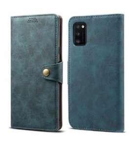 Lenuo Leather flipové pouzdro pro Samsung Galaxy A41, modrá