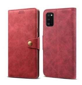 Lenuo Leather flipové pouzdro pro Samsung Galaxy A41, červená