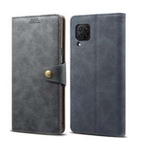 Lenuo Leather flipové pouzdro pro Huawei P40 Lite, šedá