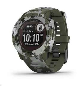 GARMIN chytré GPS hodinky Instinct Solar Camo Green Optic