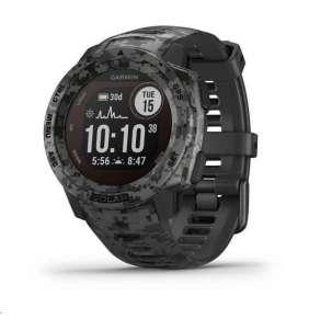 GARMIN chytré GPS hodinky Instinct Solar Camo Black Optic