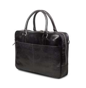 """dbramante1928 Kožená taška Leather business bag Rosenborg up to 14"""" - Black"""