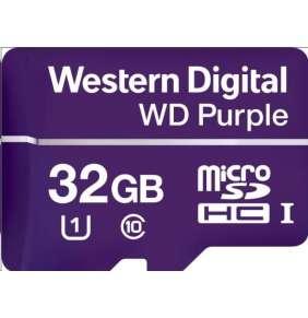 WD 32GB Purple microSDXC card Class10 (80MB/50MB)