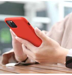 ESR kryt Color Soft Silicone Case pre iPhone 11 Pro Max - Red