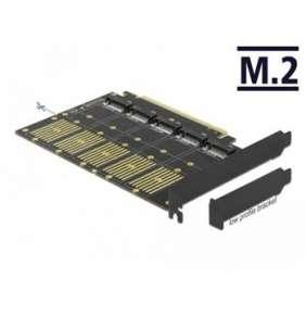 Delock PCI Express x16 Karta na 5 x interní M.2 Key B / SATA
