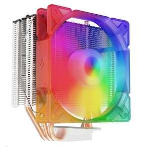 SilentiumPC chladič CPU Spartan 4 MAX EVO ARGB/ ultratichý/ 120mm fan/ 3 heatpipes/ PWM/ pro Intel i AMD