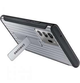Samsung Tvrzený ochranný zadní kryt se stojánkem Note 20 Ultra Silver