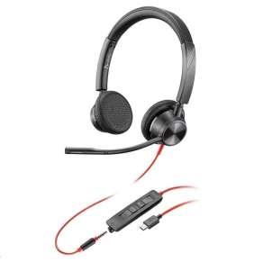 POLY náhlavní souprava BLACKWIRE 3225, USB, 3,5 mm jack, stereo