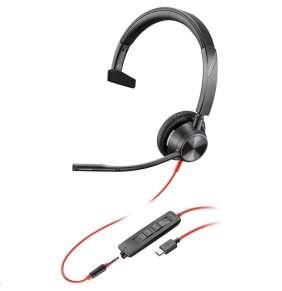 POLY náhlavní souprava BLACKWIRE 3315 MS, USB-C, 3,5 mm jack, mono