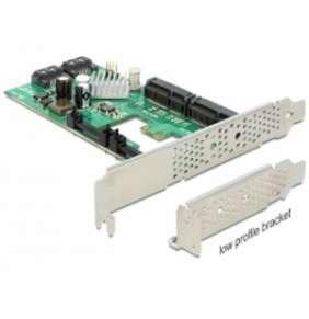 Delock PCI Express Karta   Hybrid 2 x interní SATA 6 Gb/s + 2 x interní mSATA
