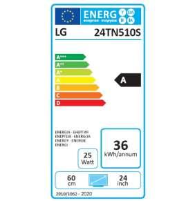 "LG TV monitor 24TN510S-PZ / 23,6""/ IPS / 1366x768 / 16:9 / DVB-T2/C/S2 / HDMI / USB / repro"