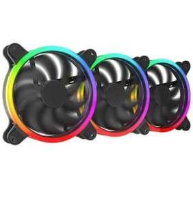 SilentiumPC sada přídavných ventilátorů Corona HP EVO ARGB 140 3-pack / 3x 140mm fan / ARGB LED / ultratichý