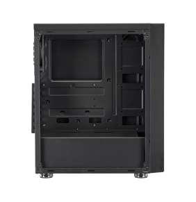 FSP/Fortron ATX Midi Tower CMT140 Black, průhledná bočnice