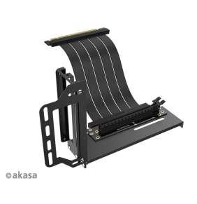 AKASA RISER BLACK PRO, Vertical GPU Holder + Premium PCIe 3.0 Riser cable