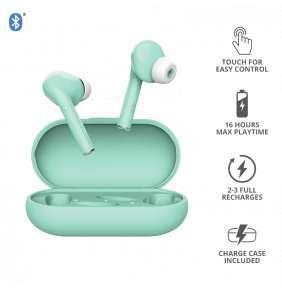TRUST sluchátka NIKA Touch Bluetooth Wireless Earphones, mint/tyrkysová