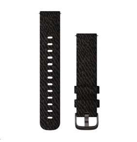 Garmin řemínek Quick Release 20mm, nylonový černý, černá přezka