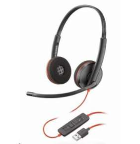 Plantronics náhlavní souprava BLACKWIRE 3220, USB, stereo, černá