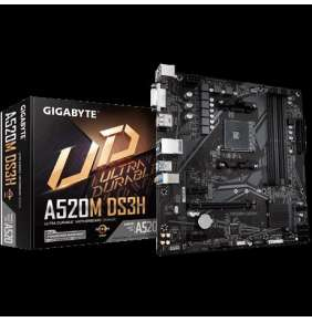 GIGABYTE MB Sc AM4 A520M DS3H, AMD A520M, 4xDDR4, HDMI, DVI, DP