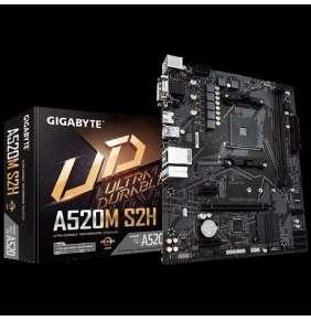 GIGABYTE MB Sc AM4 A520M S2H, AMD A520, 2xDDR4, 1xHDMI, 1xDVI, VGA, mATX