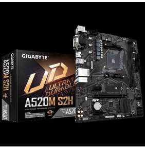 GIGABYTE MB Sc AM4 A520M S2H, AMD A520M, 2xDDR4, HDMI, DVI, VGA