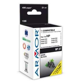 WECARE ARMOR cartridge pro HP DJ 3325/3420/3550/3650/3745/PSC 1215/1315/OfficeJet 4255  Black (C8727AE) 21ml, 495 str