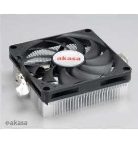 AKASA chladič CPU AK-CC1101EP02 pro AMD socket 754, 979, AMx, 80mm PWM ventilátor, pro mini ITX skříně - bez obalu