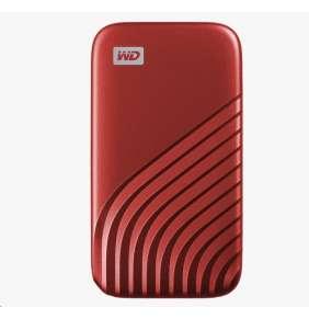 SanDisk WD My Passport SSD externí 2TB , USB-C 3.2 ,1050/10000MB/s R/W PC & Mac ,Red