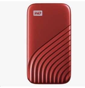 SanDisk WD My Passport SSD externí 1TB , USB-C 3.2 ,1050/10000MB/s R/W PC & Mac ,Red