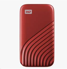 SanDisk WD My Passport SSD externí 500GB , USB-C 3.2 ,1050/10000MB/s R/W PC & Mac ,Red