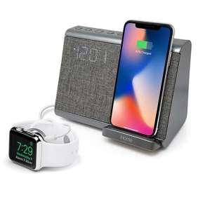 iHome Dual Alarm Clock iBTW39 with Qi Wireles Charging Black reproduktor