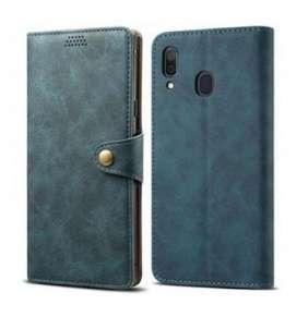 Lenuo Leather flipové pouzdro pro Samsung Galaxy A31, červená