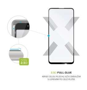 FIXED Ochranné tvrdené sklo Full-Cover pre Apple iPhone 12 mini, lepenie cez celý displej, čierne