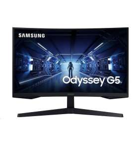 """Samsung Odyssey G5 27""""/ prohnutý 2560x1440/ 1ms/ 250cd/m2/ HDMI/ DP/ sluchátkový port"""
