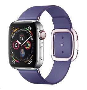 COTEetCI kožený magnetický řemínek Nobleman pro Apple Watch 38 / 40mm fialová