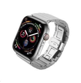 COTEetCI ocelový pásek pro Apple Watch 42 / 44mm stříbrný