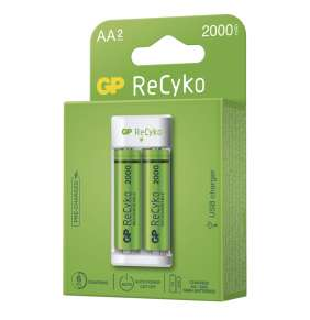 GP nabíječka baterií Eco E211 + 2× AA REC 2000