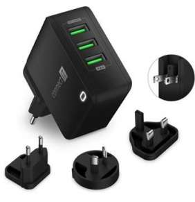 CONNECT IT Nomad2 WorldTravel nabíjecí adaptér 3xUSB-A, 24W, ČERNÝ