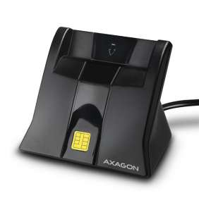 AXAGON CRE-SM4 USB Smart card StandReader, 1.2m cable
