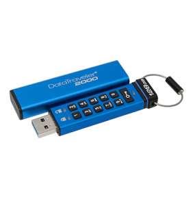 Kingston 128GB USB 3.0 DataTraveler 2000 s klávesnicí a 256bitovým šifrováním