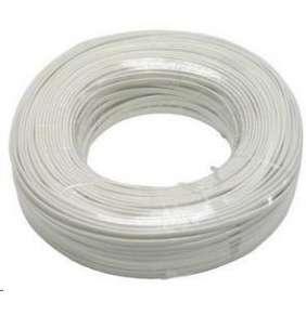 PremiumCord kabel telefonní 4 žíly bílý 100m