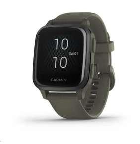 Garmin GPS sportovní hodinky Venu Sq Music, Slate/Green Band