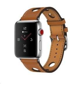 COTEetCI kožený řemínek pro Apple Watch 38 / 40mm hnědá