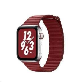 COTEetCI kožený magnetický řemínek Loop Band pro Apple Watch 42 / 44mm červený