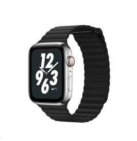 COTEetCI kožený magnetický řemínek Loop Band pro Apple Watch 42 / 44mm černý