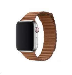 COTEetCI kožený magnetický řemínek Loop Band pro Apple Watch 38 / 40mm hnědý