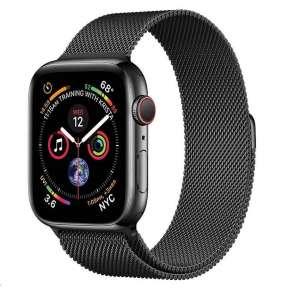 COTEetCI ocelový magnetický řemínek pro Apple Watch 42 / 44mm černý